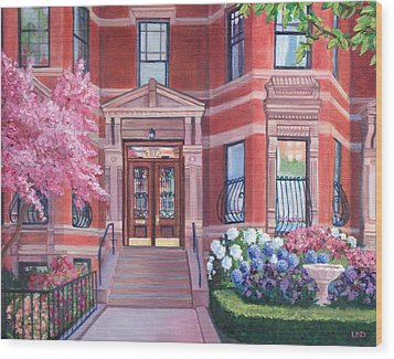 238 Marlborough Street Wood Print by Laura DeDonato