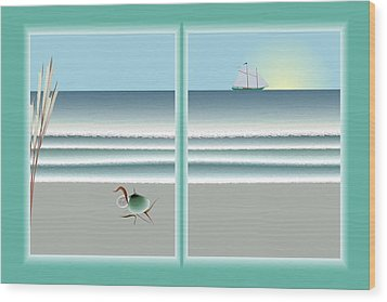 24x36 Window On The Water Wood Print by Steve Smyth