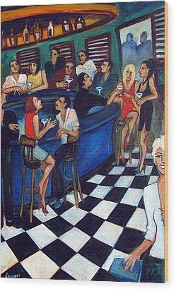 32 East Wood Print by Valerie Vescovi