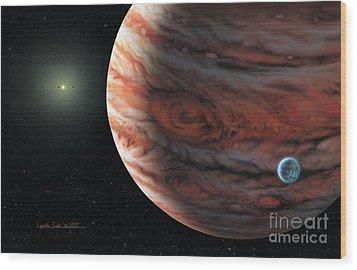 55 Cancri 2007 Wood Print by Lynette Cook