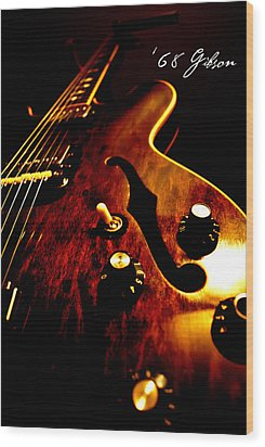 '68 Gibson Wood Print by Christopher Gaston