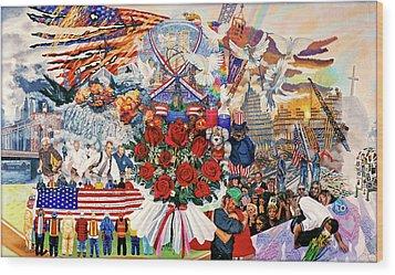 9/11 Memorial Wood Print by Bonnie Siracusa