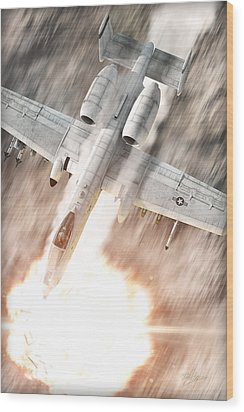 A-10 Thunderbolt II Wood Print by David Collins