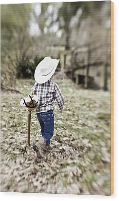 A Boy And His Horse Wood Print by Scott Pellegrin