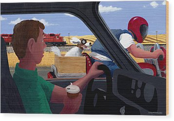 A Dog's Life Wood Print by Neil Woodward