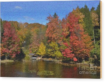 A Little Piece Of Adirondack Heaven Wood Print by Diane E Berry
