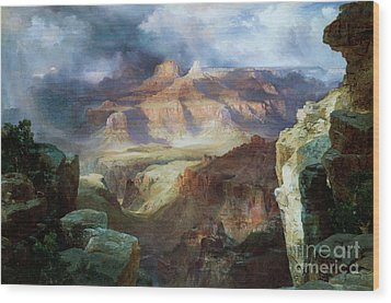 A Miracle Of Nature Wood Print by Thomas Moran