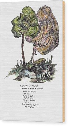 A Picnic Wood Print by Lily Hymen