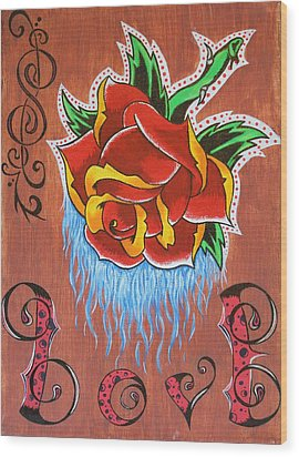 A Rose For The Wife Wood Print by Landon Clary