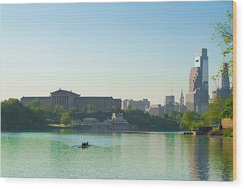 Wood Print featuring the photograph A Spring Morning In Philadelphia by Bill Cannon