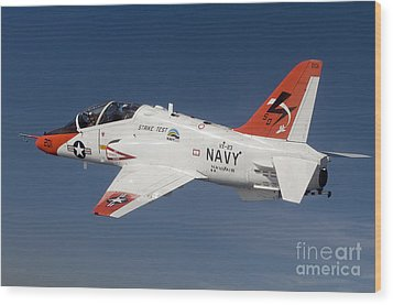 A T-45c Goshawk Training Aircraft Wood Print by Stocktrek Images