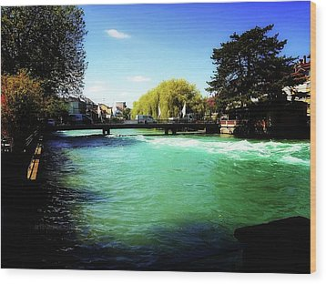 Wood Print featuring the photograph Aare River by Mimulux patricia no No