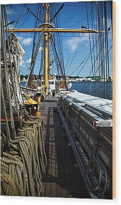Wood Print featuring the photograph Aboard The Eagle by Karol Livote