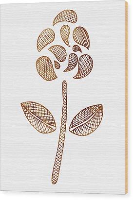 Abstract Flower Wood Print by Frank Tschakert