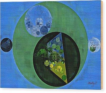 Wood Print featuring the digital art Abstract Painting - Amazon by Vitaliy Gladkiy