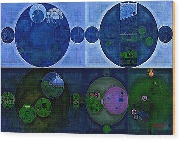 Wood Print featuring the digital art Abstract Painting - Saint Patrick Blue by Vitaliy Gladkiy