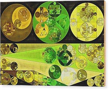 Wood Print featuring the digital art Abstract Painting - Starship by Vitaliy Gladkiy