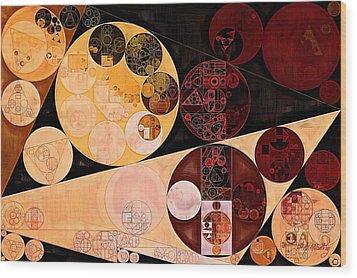 Wood Print featuring the digital art Abstract Painting - Tacao by Vitaliy Gladkiy