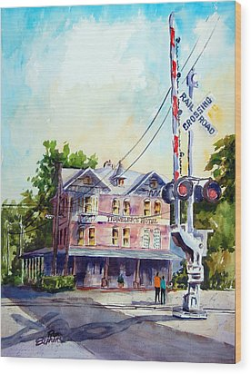 Across The Tracks Wood Print by Ron Stephens