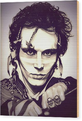 Adam Ant Wood Print by Fred Larucci