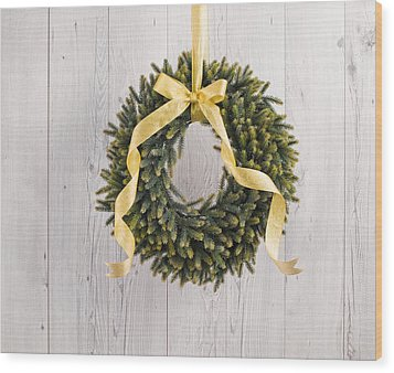 Wood Print featuring the photograph Advents Wreath by Ulrich Schade