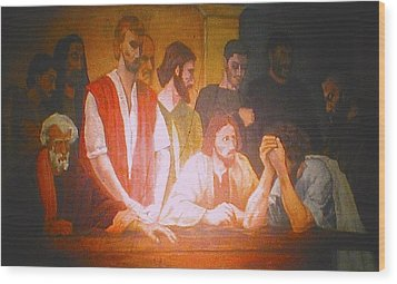 After The Last Supper Wood Print by G Cuffia