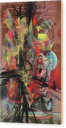 Agitation Wood Print