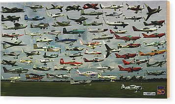 Airventure Cup Air Race, 2017 - Panorama Wood Print