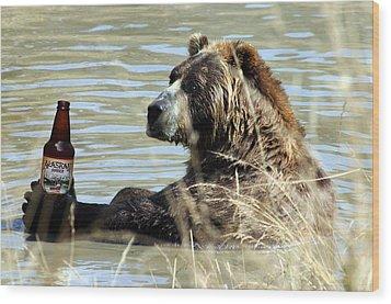 Alaskan Amber Wood Print by Wildcat Photography
