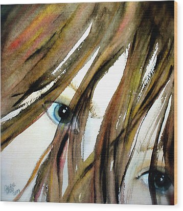 Alex's Eyes Wood Print by Cheryl Dodd
