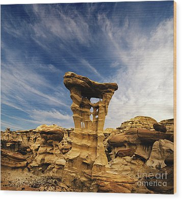 Alien Throne New Mexico Wood Print by Bob Christopher