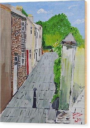 Alleyway Wood Print