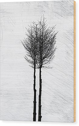 Wood Print featuring the photograph Alone Together by Odd Jeppesen