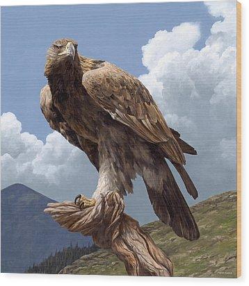 Alpine Hunter Wood Print