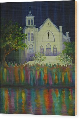 Amazing Grace Wood Print by Dorothy Allston Rogers
