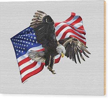 America Wood Print by Owen Bell