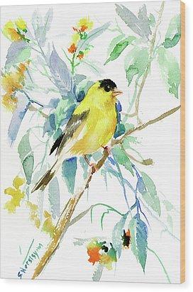 American Goldfinch Wood Print by Suren Nersisyan
