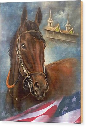 American Pharoah Wood Print