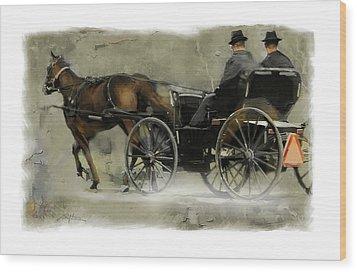 Amish Country Wood Print by Bob Salo