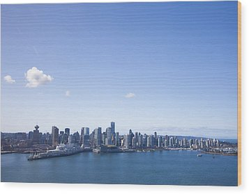 An Aerial View Of The City Of Vancouver Wood Print by Taylor S. Kennedy