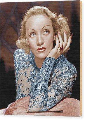 Angel, Marlene Dietrich, 1937 Wood Print by Everett