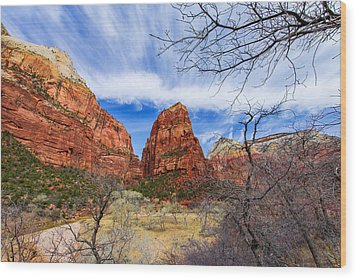 Angels Landing Wood Print by Chad Dutson