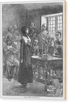 Anne Hutchinson (1591-1643) Wood Print by Granger