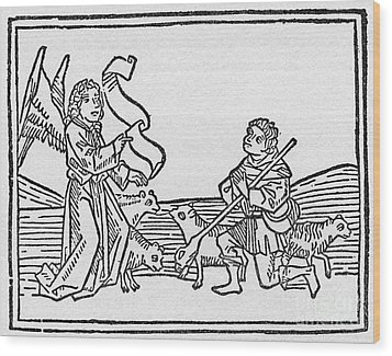 Annunciation To Shepherds Wood Print by Granger
