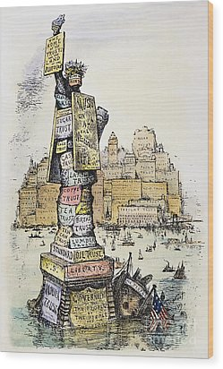 Anti-trust Cartoon, 1889 Wood Print by Granger