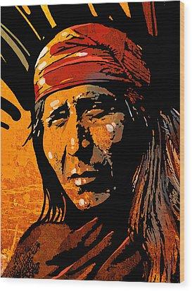 Apache Warrior Wood Print