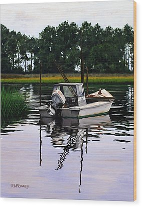 Wood Print featuring the painting Apalach by Rick McKinney
