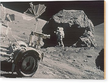 Apollo 17, December 1972: Wood Print by Granger