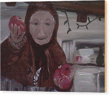 Apple Lady Wood Print