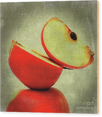Apples Wood Print by Bernard Jaubert